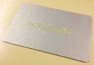 metallic gold plastic business cards
