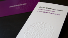 Embossed cards4